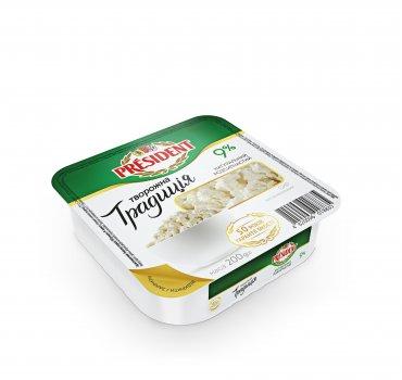 Сир кисломолочний ПРЕЗИДЕНТ 9% Творожна Традиція 200г