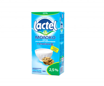 Молоко ЛАКТЕЛЬ 2,5% с витамином D 1л