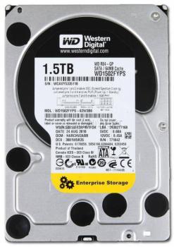 """Жорсткий диск Western Digital 1.5 ТБ 7200об/м 64МБ 3.5"""" SATA II (WD1502FYPS) Refurbished"""