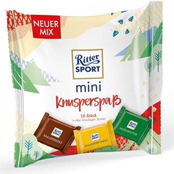 Шоколадки Ritter Sport Knusperspaß mix mini čokolád 250 g