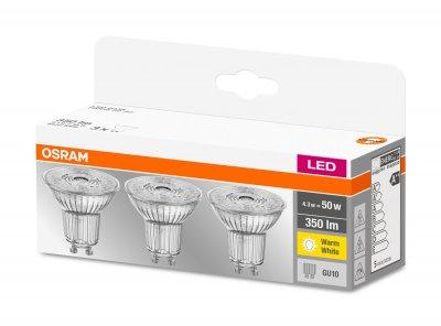 Набір світлодіодних ламп OSRAM BASE PAR16 50 36° 4.3 W 2700 K GU10 3 шт. (4058075818392)