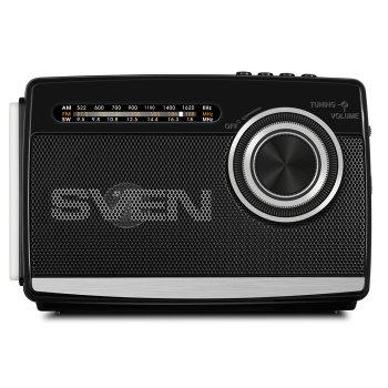 Портативний радіоприймач SVEN SRP-535 (black) 3Вт, Li-Ion акумулятор, USB, microSD,FM (23594)