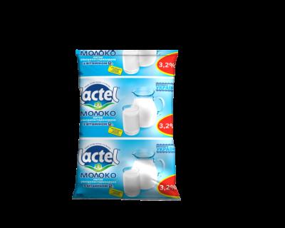 Молоко ЛАКТЕЛЬ 3,2% с витамином D 900мл