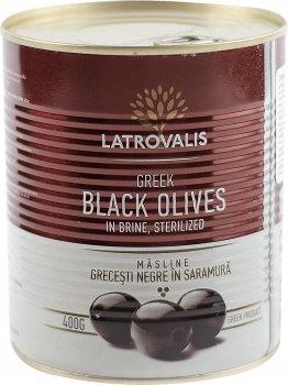Оливки чорні Latrovalis з кісточками 141/160 900 мл (5204403613453)