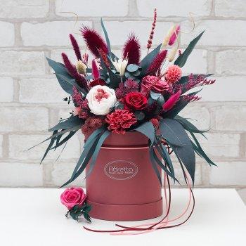 """Букет из стабилизированных живых цветов Floretta """"Королевская роскошь"""", неувядающий более 3 лет, размер XL"""