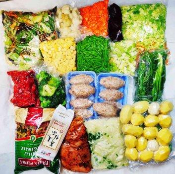 """Продуктовий набір """"Сімейний"""" - тижневий запас овочів та м яса для родини"""
