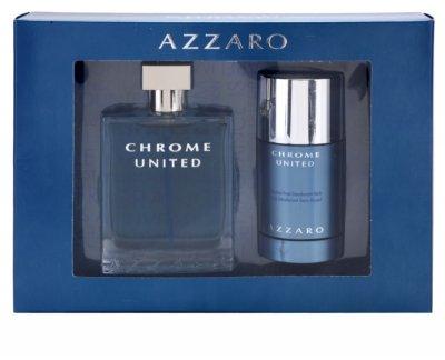 Мужская парфюмерия Набор Azzaro Chrome United Туалетная вода EDT 100 мл Туалетная вода EDT 30 мл (3351500958337)