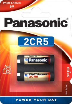 Батарейка Panasonic литиевая 2CR5 блистер, 1 шт (2CR-5L/1BP)