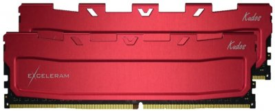 Оперативна пам'ять Exceleram DDR4-3466 16384 MB PC4-27700 (Kit of 2x8192) Red Kudos (EKRED4163418AD)