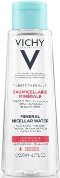 Міцелярна вода Vichy Purete Thermale для чутливої шкіри обличчя й очей 200 мл (3337875674942)