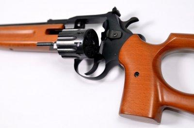 Револьверна гвинтівка під патрон Флобера Safari SPORT cal. 4 мм стовбур 43 см, буковий приклад