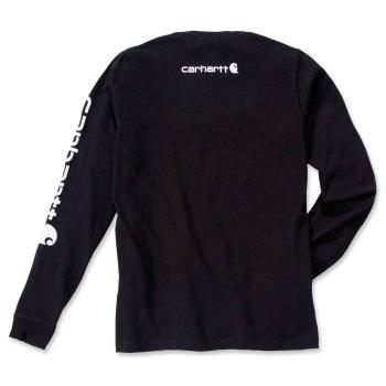 Футболка з довгим рукавом Carhartt Sleeve Logo T-Shirt L/S - EK231 Black