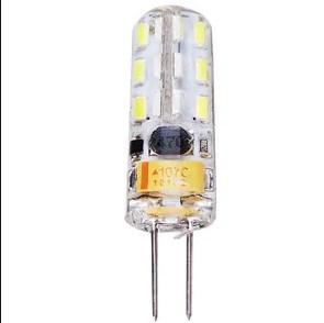 Лампа Lemanso св-ва G4 24LED 1,5 W AC/DC 12V 150LM 6500K силікон / LM3030