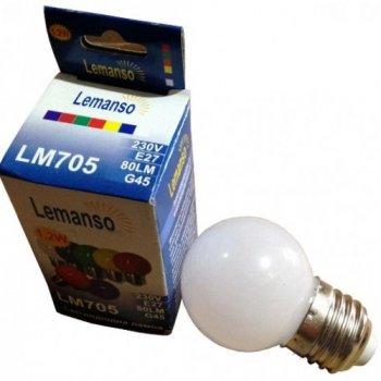Лампа Lemanso св-ва 1,2 W G45 E27 білий 6500K куля / LM705