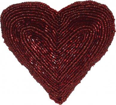 Ялинкова іграшка Christmas Decoration Heart 13.5x13x5 см Red (A04427710_heart)