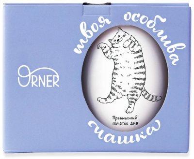 Чашка Orner Ленивый кот 450 мл (orner-0404)