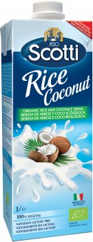 Рисовое молоко Riso Scotti органическое с кокосом 1 л (8001860251085)