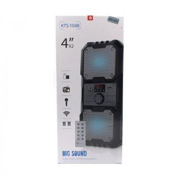 Беспроводная портативная Bluetooth колонка KTS 1048 BT Черная (3448)
