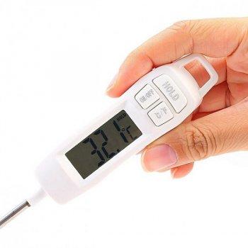 Кухонный цифровой термометр со щупом для мяса KCASA KC-TP400 (от -50 до 300 ºC; ±1ºС)+ пластиковый тубус для хранения