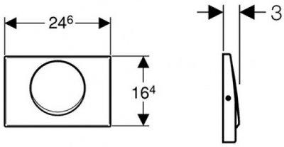 Панель смыва GEBERIT Delta 15 нержавеющая сталь 115.101.00.1