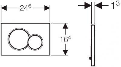 Панель смыва GEBERIT Sigma 01 черный 115.770.DW.5