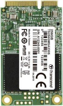 SSD накопичувач Transcend MSA230S 256GB mSATA 3D TLC (TS256GMSA230S) (6516288)
