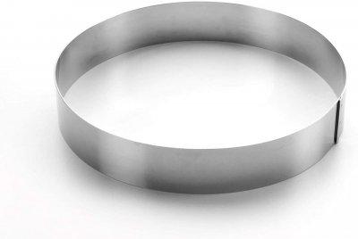 Форма Lacor з нержавіючої сталі для випічки торта 18х4см (68418)