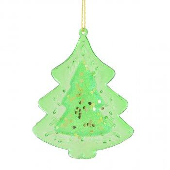 Елочная игрушка Новогодько (YES! Fun) Ель 10 см Зеленая (972832) (5056137109180)