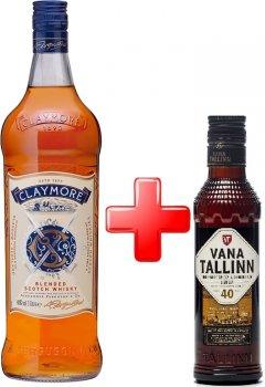 Виски Claymore 1 л 40% + Ликер Vana Tallinn Original 0.2 л 40% (5010196348225)