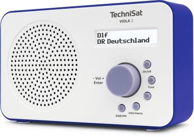 Портативний цифровий радіоприймач TechniSat VIOLA 2 на батарейках/блок живлення, біло-синій (0001/3906)