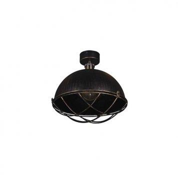 Потолочный Светильник Лофт Skarlat Черный Полусфера Решетка d - 310 мм (1G 1363-LS)