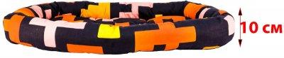 Лежак для кішок і собак Форт Нокс FX home Піксель 60 х 48 х 10 см Жовтогарячо-чорний (2820000013552)