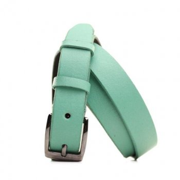 Ремень Lazar кожаный зеленый L25S0W90 115 см