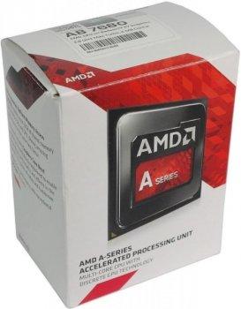 Процесор CPU AMD Carrizo A8-Series 4C/4T 7680 3,5 GHz-3,8 GHz(Turbo)/2MB/65W (AD7680ACABBOX) FM2+ BOX