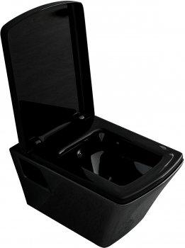 Унітаз підвісний VOLLE Teo 13-88-422 Black глянець + сидіння Soft Close