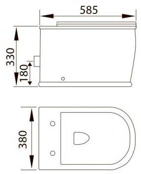 Унітаз підвісний VOLLE Puerta Rimless 13-16-077 зі сидінням Slim Soft Close