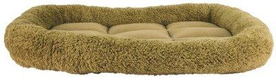 Лежак для кішок і собак Фортнокс FX home Комфорт 56 х 46 х 8 см Коричнево-оливковий (2820000013613)
