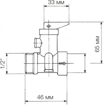 """Запобіжний клапан Bonomi для бойлера 1/2"""" PN8 (36350004)"""