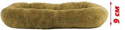 Лежак для кішок і собак Фортнокс FX home Комфорт 96 х 68 х 9 см Сіро-оливковий (2820000013651)