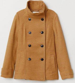 Пальто H&M 390162a22 Коричневое