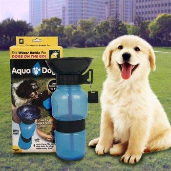 Дорожня поїлка для собак Aqua Dog 537 мл Блакитна (2000992389907)