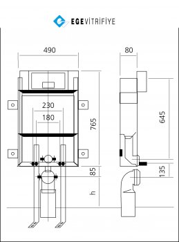 Инсталляционная система Ege Vitrifiye EVB3270 MOD T1
