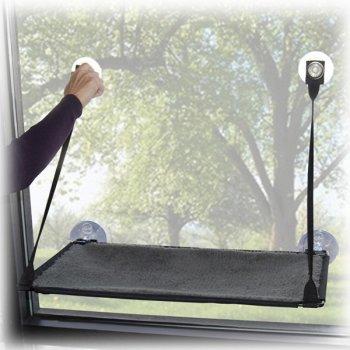 Лежак на вікно для кішок K & H Pet Products Ez Mount Window Kitty Sill 58.5 х 30.5 х 3 см (9091) (655199090914)