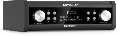 Стаціонарний радіоприймач TechniSat DIGITRADIO 20 DAB+ для кухі і кабінету Антрацит (0000/4987)