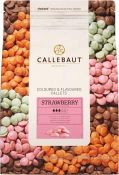 Бельгийский шоколад Callebaut Strawberry Callets в виде каллет со вкусом клубники 2.5 кг (5410522516531)
