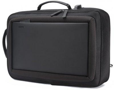 Рюкзак протикрадій Bopai 2в1 з USB портом і відділенням для ноутбука, чорний (751-006551)