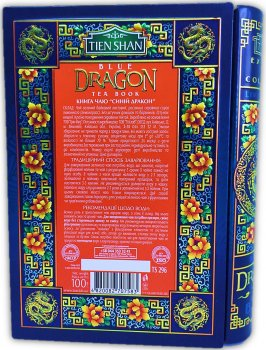 Чай зеленый байховый листовой Tien Shan Blue Dragon жестяная банка 100 г (4820082707583)
