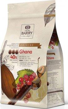 Моносортовой молочный шоколад Cacao Barry Origin Ghana 40% в виде каллет 1 кг (3073416296135)