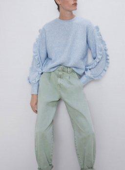 Джинси жіночі slouchy Azure, бірюзовий Berni Fashion Бірюзовий (55841)