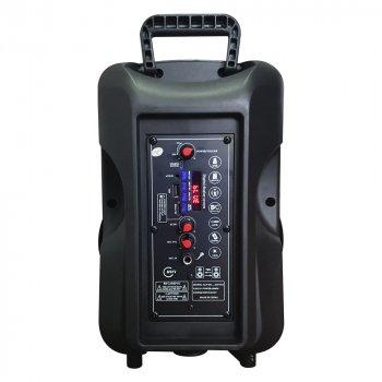 Портативна бездротова акустична система ALP-803 Bluetooth колонка валізу з мікрофоном 1800mA Black (ALP-803)